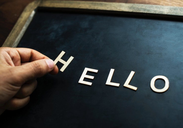 mindfulmedicine.co.uk image: someone spelling out the word Hello